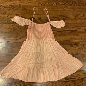 orange and white striped dress from irene's story